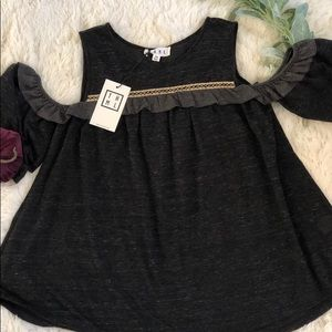NWT THML Cold Shoulder Top